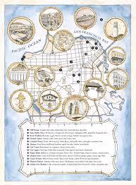 san francisco map for tourist trick s new san francisco tourist map menu launching tonight