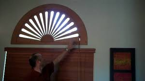 stained adjustable arch window covering by kempler design youtube