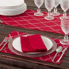 table runner placemat set embroidered ikat design table runners or set of 4 placemats free