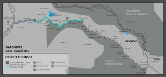 Amazon River World Map by 3 Night Itinerary Anakonda Amazon Cruises