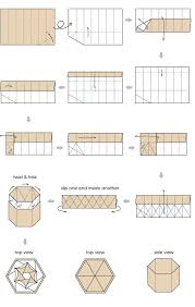 origami box with lid printable instructions best 25 hexagon box