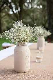 Mason Jars Wedding Centerpieces by Distressed Mason Jar Painted Mason Jar Centerpiece Rustic