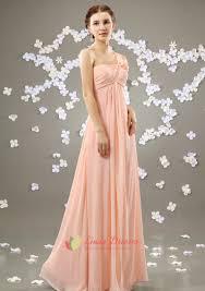 blush pink one shoulder bridesmaid dress long pale pink bridesmaid