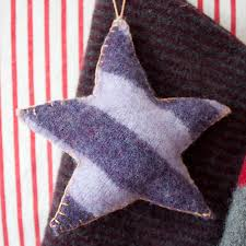 upcycled felt ornaments with blanket stitch tutorial the