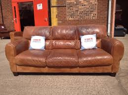 Dfs Leather Sofas Stunning Original Brown Leather Dfs Hobart Sofa 3 Seater Aherns