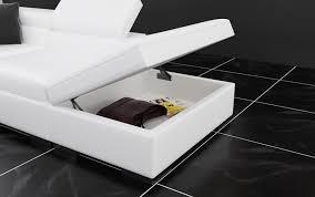 canapé d angle noir cuir canapé d angle cuir genova xl canapé d angle noir en cuir 5
