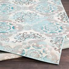 Teal Area Rug Raquel Machine Woven Teal Silver Gray Area Rug Reviews Birch