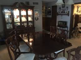 thomasville cherry hutch and dining room table with chairs home