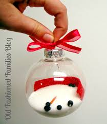 melted snowman ornament diy fashioned families