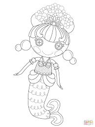 lalaloopsy coloring page lalaloopsy bubbly mermaid coloring page