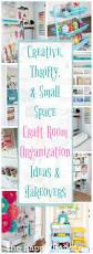 creative thrifty u0026 small space craft room organization ideas