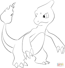 charmander coloring pages for kids download 2570