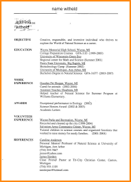 100 format of resume for students resumes and letters