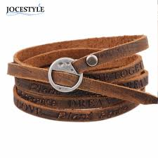multi leather bracelet images One piece wounded men leather bracelet 2018 new minimalist style jpg