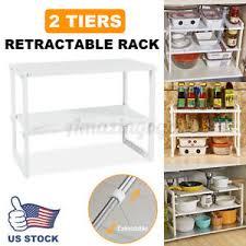 sink kitchen cabinet organizer details about 2 tier sink rack cabinet organizer storage expandable kitchen shelf holder