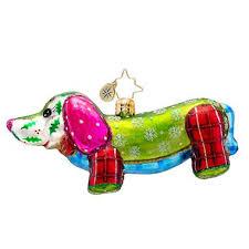 christopher radko glass hamming it up pink pig ornament