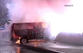 two dead in hollywood fireball crash after driver flees police and