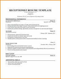 resume receptionist duties top 8 of a hotel samples 1 in this file