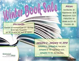 winter book sale greenwood library