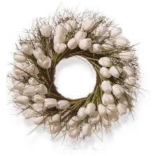 Tulip Wreath Artificial Tulip Wreath White 24