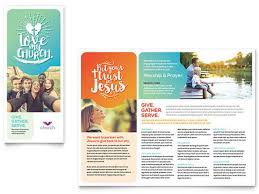 microsoft brochure download church brochure template word