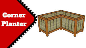 corner planter box plans youtube