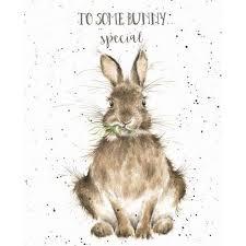 rabbit birthday wrendale designs happy birthday greeting card rabbit some