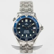 stainless steel bracelet omega watches images Omega seamaster 300m 38mm mid size blue dial bezel stainless steel jpg