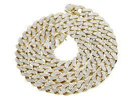 link choker necklace images 10k yellow gold diamond cuban link choker chain necklace 7 3 ct 24 quot jpg