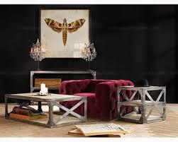 luxury furniture one seat red velvet tufted sofa buy velvet sofa