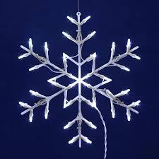 lighted snowflake window decorations lighting decor