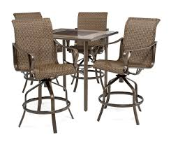 Dining Patio Set - rochester woven 5pc bar height high dining patio set u2013 la z boy