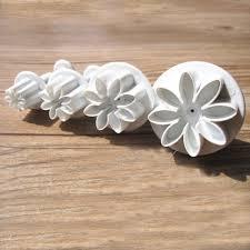 4pcs set daisy flower cookie sunflower plunger cutter sugarcraft