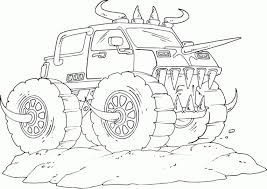 get this free monster truck coloring pages 95742