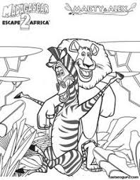 madagascar 3 coloring picture coloring pages kids