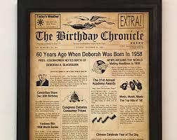 60 year birthday gifts 60th birthday gift etsy