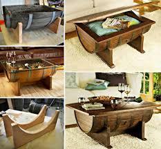 wonderful diy whiskey barrel coffee table whiskey barrels