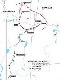 Mbta T Map by Bellingham T Shuttles