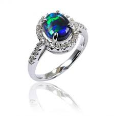 blue opal engagement rings australian opal engagement ring engagement rings