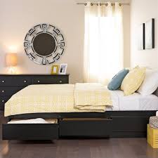 Sonoma Platform Bed - black sonoma double full platform storage bed with 6 drawers