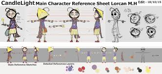 candlelight main character reference sheet u2013 running in the