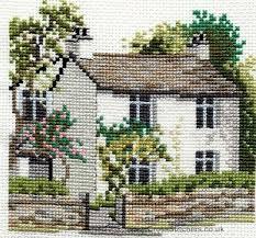 dove cottage cross stitch kit from derwentwater designs basit