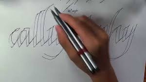how to write in cool fonts on paper how to write calligraphy with a normal pen youtube