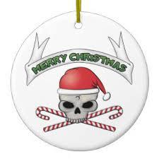 xmas skull christmas tree decorations u0026 baubles zazzle co nz