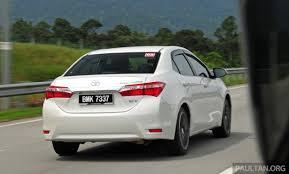 toyota corolla 2014 altis driven 2014 toyota corolla altis 2 0 v malaysian review