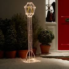 light up your home with this white soft glow freestanding lantern