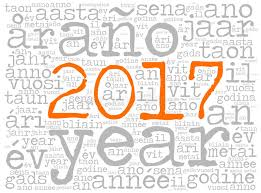 word cloud 2017 in different languages stock vector image 73955973