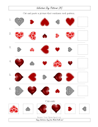 valentines day picture patterns with shape size and rotation