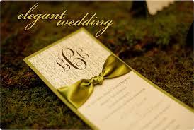 Elegant Wedding Program Black White U0026 Green Texas Wedding Showcase Programming