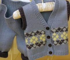 baby argyle sweater vest knit pattern cardigan with buttons